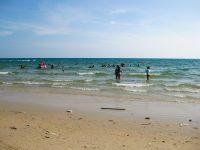 Sihanoukville beach on Gulf of Thailand.