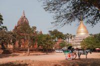 Temples, pagodas, and stupas in Bagan, Myanmar.