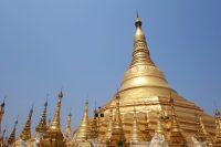 Yangon, Myanmar is home to both the Sule and Shwedagon Pagoda complexes.