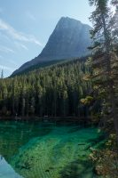 Crystal clear water of Grassi Lakes