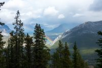 View from the top of Sulphur Mountain.