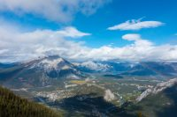 Overlooking the Bow Valley.