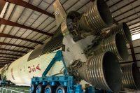Saturn V rocket engines.