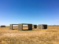 Donald Judd; 15 untitled works in concrete.