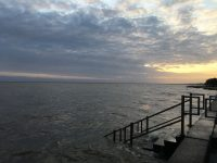 The high waters of Lake Pontchartrain.