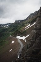 Ah! Highline Trail, Glacier National Park, Montana, United States.