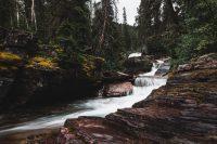 Saint Mary Falls / Virginia Falls hike. Glacier National Park, Montana, United States.