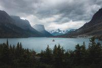 Wild Goose Island, Glacier National Park, Montana, United States.