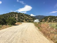 Free camping outside Salida; amenities included...