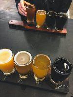 Flights at Steady Habit Brewing Company.
