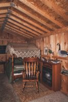 The cozy interior of The Love Shack.