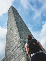 High Point monument stands 200 feet tall at ~1800 feet above sea level.
