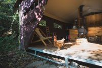 The platform tents at Stony Creek Farmstead are loved by all.