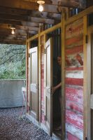 Enjoy a hot shower in the open air shower house.