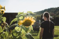 Stop and smell the flowers during your farm stay.