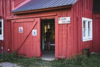 You won't go hungry on your farm stay. The farm store stocks their own meat, eggs, and vegetables as well as other products such as pancake mix, syrup, yogurt, soup, dish soap, t-shirts, yarn, and more.