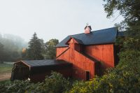 The Stony Creek Farmstead farm store is located in this red barn.