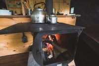 Get the wood cookstove fired up for breakfast. Don't miss picking up the morning farm basket chock full of fresh baked bread, eggs, bacon, and vegetables.