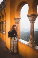 Taking in the view from the Palacio De Pena.