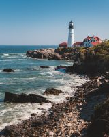 The most photographed lighthouse in America is located in the Fort Williams town park.