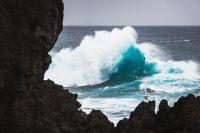 Big waves off the coast of Porto Moniz.