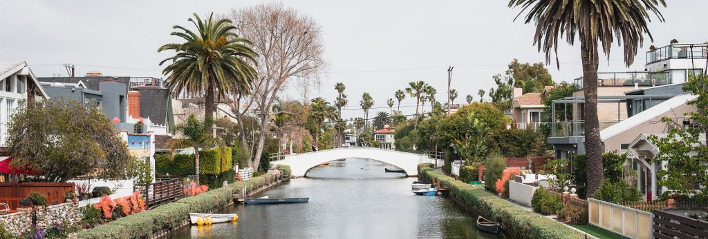 Stroll the Venice Canal Historic District in Venice, California.