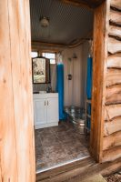 The upper level of the property has a fantastic shower room with toilet.