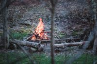 Enjoy an evening around the campfire on the property.