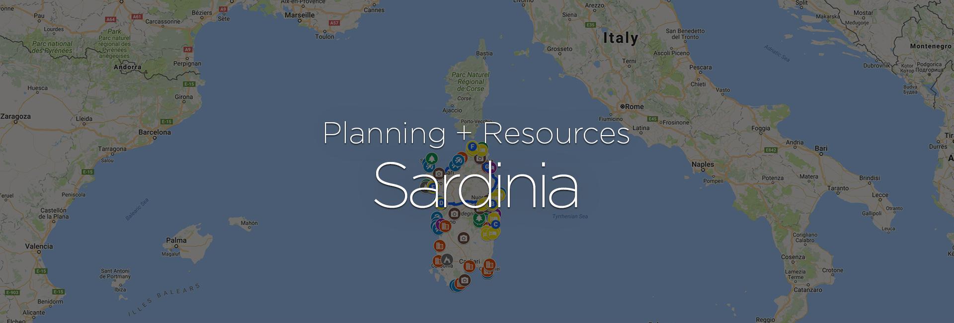 Planning + Resources: Sardinia