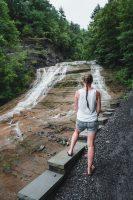 Buttermilk Falls State Park near Ithaca, New York.