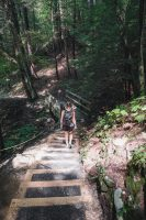 Hiking the Gorge Trail and the Rim Trail at Robert H. Treman State Park.