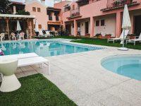 The pool at Hotel Daniel, Olbia.