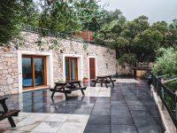 The terrace at Rifugio Gorropu