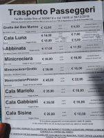 Information on a boat trip tickets around Golfo di Orosei.