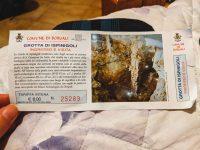 Entrance ticket to Grotta di Ispinigoli
