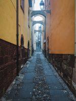 The narrow streets of Bosa