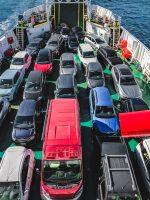 Taking the ferry to Isola La Maddalena