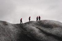 Glacier walk as part of IceGuides kayak tour in Heinabergslon