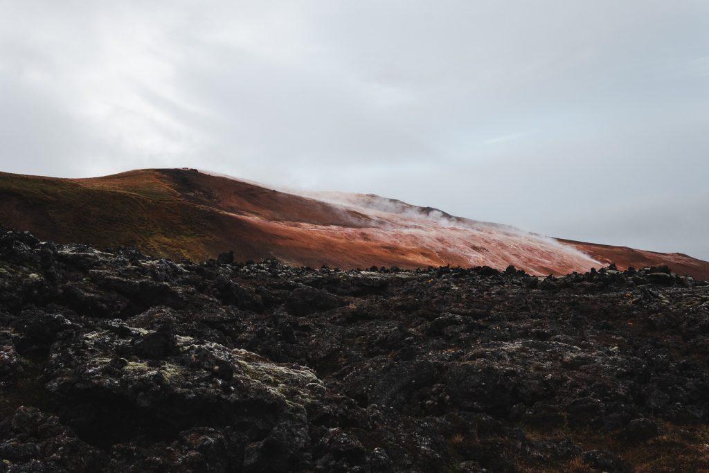Leirhnjukur lava field