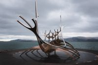 The Sun Voyager sculpture, Reykjavík