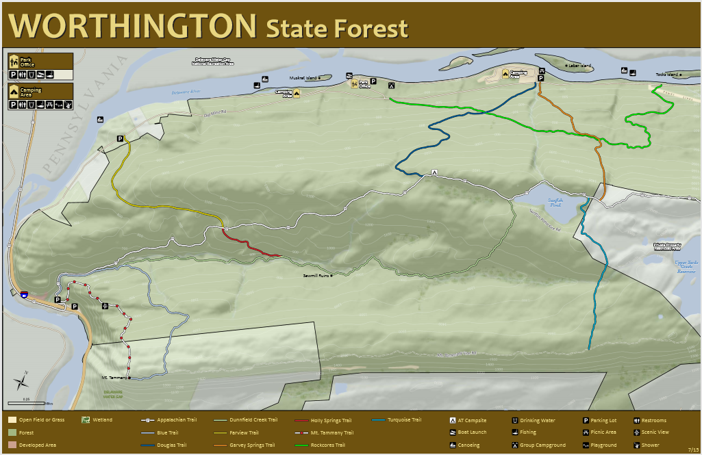 Worthington State Forest Trail Map