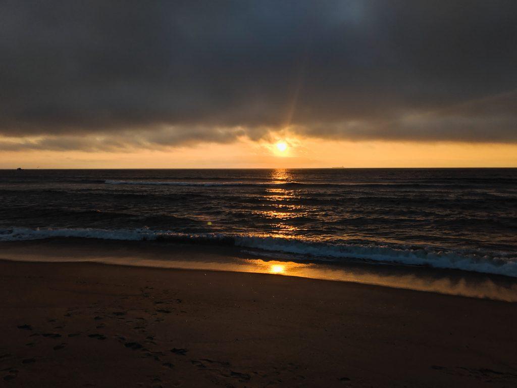 Sunrise over the ocean at Sandy Hook