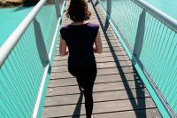 Lake Tekapo swing bridge