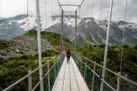 Swing bridge 1 of 3 on Hooker Valley Track, Aoraki/Mount Cook National Park
