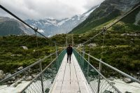 Swing bridge on Hooker Valley Track, Aoraki/Mount Cook National Park