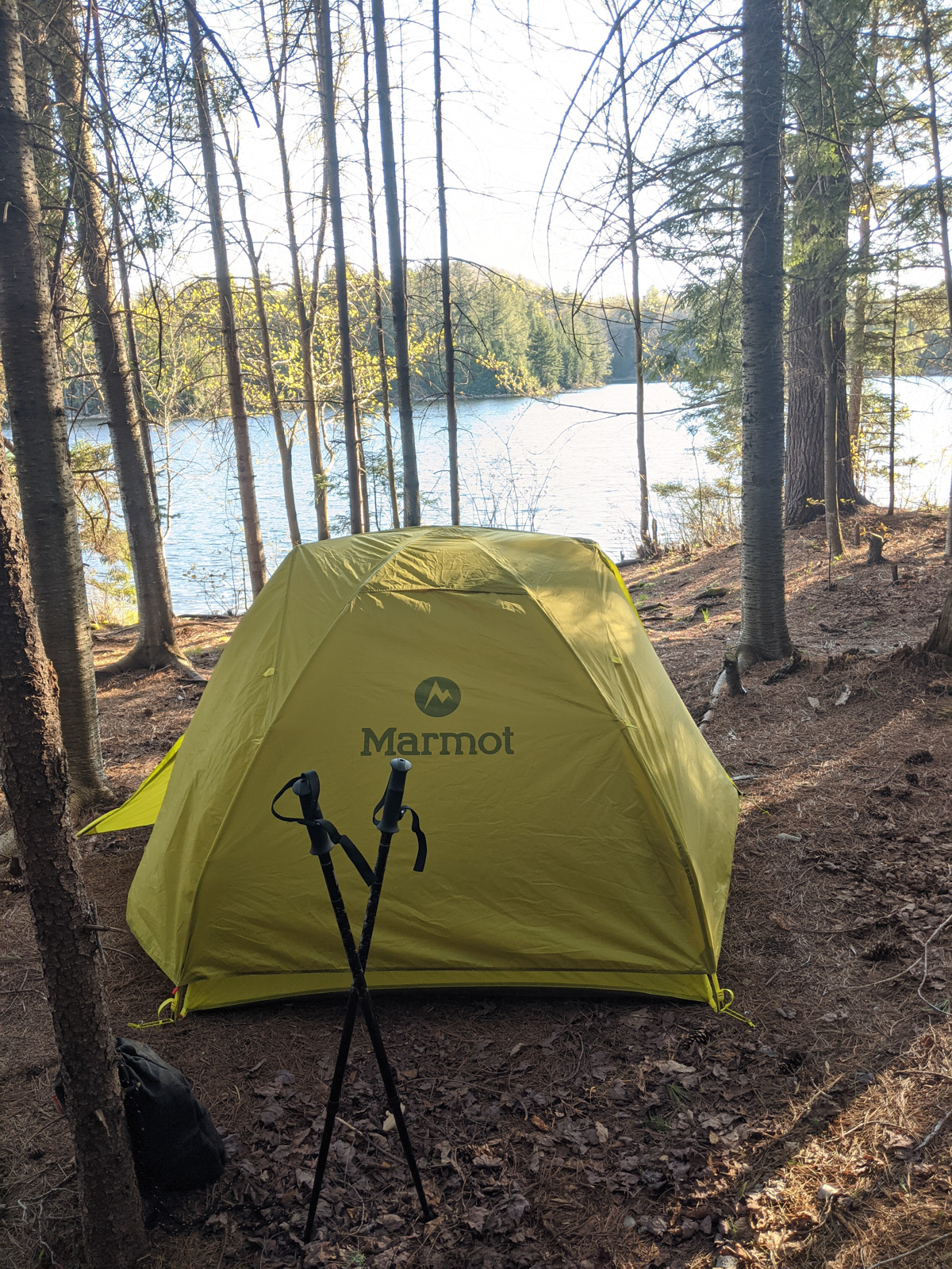 Cowhorn Pond Campsite on the CL50