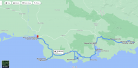 Catlins Itinerary: Day 4 map